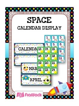 SPACE Themed Calendar Display Set