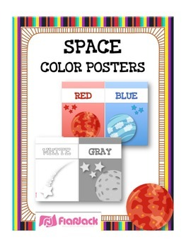 SPACE Themed Color Cards Posters