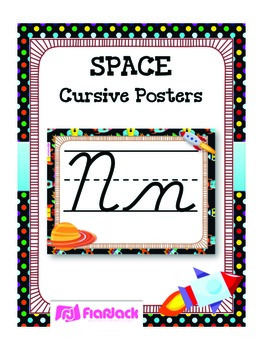 SPACE Themed Cursive Alphabet Posters