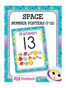 SPACE Themed Number Posters 0 to 20