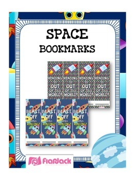 SPACE Themed Reading Bookmarks