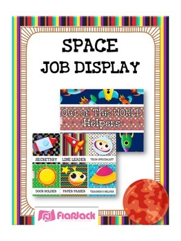 SPACE Themed Student Jobs Display