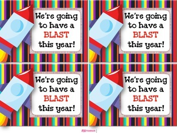 SPACE Themed Student Message Cards (Postcards)