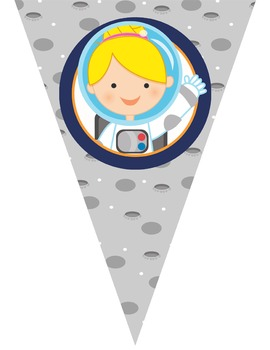 SPACE theme - Classroom Decor - Triangle Banners, CREATE a BANNER