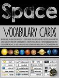 SPACE VOCABULARY CARDS