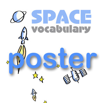 SPACE VOCABULARY SHEET/POSTER A4