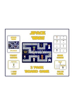 SPACE WARS Syllables - ELA First Grade Folder Game - Word Work Center