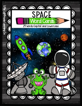 SPACE Word Cards {Capital & Lowercase}