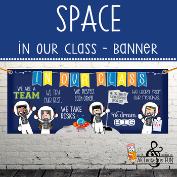 SPACE kids {melonheadz} - Class Decor: LARGE BANNER, In Our Class - horizontal