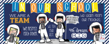 SPACE kids {melonheadz} - Class Decor: LARGE BANNER, In Our School - horizontal