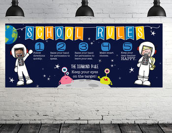 SPACE kids {melonheadz} - LARGE BANNER, School Rules, Whole Brain Teaching