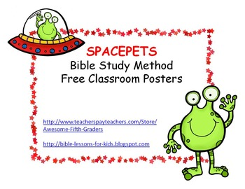 SPACEPETS Bible Posters for the Classroom