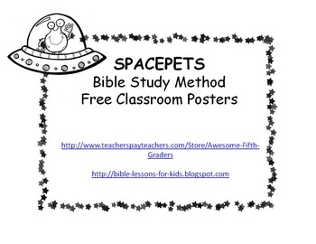 SPACEPETS Bible Posters for the Classroom - Black and White