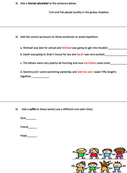 Grammar: End of year assessment