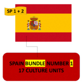 SPAIN BUNDLE NUMBER 1 - 17 THEMATIC UNITS - SPANISH 1 AND SPANISH 2
