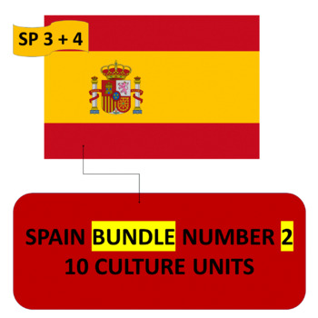 SPAIN BUNDLE NUMBER 2 - 10 THEMATIC UNITS - SPANISH 3 AND SPANISH 4
