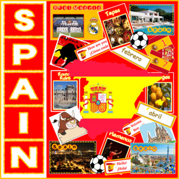 SPAIN & SPANISH LANGUAGE -MULTICULTURAL DIVERSITY DISPLAY GEOGRAPHY