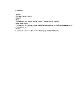 SPAIN informational sheet