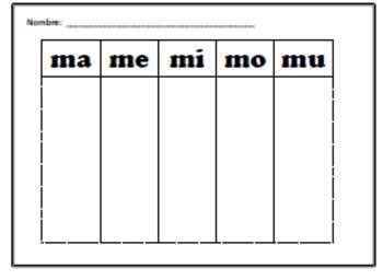 SPAN. Tarjetas de Silabas con esteras de trabajo/Syllable Flashcards w/workmats