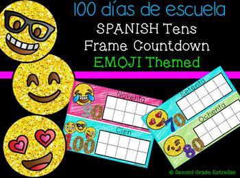 SPANISH 100 Dias de Escuela:Conteo Regresivo Motivo:Emoji