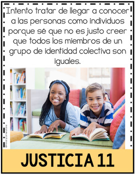 SPANISH 3-5 Carteles de Justicia Social-Social Justice Posters-Kid Friendly