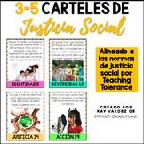 SPANISH 3-5 Carteles de Justicia Social-Social Justice Pos