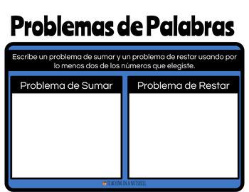 SPANISH 3-Digit Number Journal