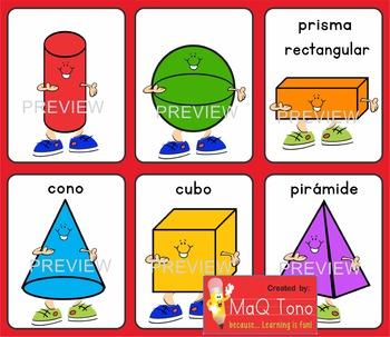 SPANISH 3D SHAPES