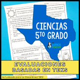 SPANISH 5th Grade Science TEKS Based Assessments