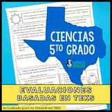 SPANISH 5th Grade Science TEKS Based Assessments