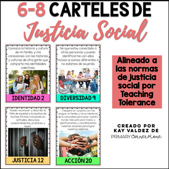 SPANISH 6-8 Carteles de Justicia Social-Social Justice Posters-Kid Friendly