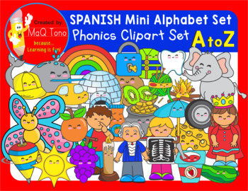 SPANISH A to Z Mini alphabet beginning sounds
