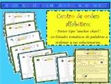 SPANISH ABC ORDER LITERACY CENTER / CENTRO LECTOESCRITURA ORDEN ALFABÉTICO