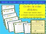 SPANISH ABC ORDER LITERACY CENTER / CENTRO LECTOESCRITURA
