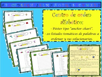 SPANISH ABC ORDER LITERACY CENTER / CENTRO LECTOESCRITURA