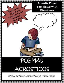 """SPANISH """"ACROSTIC POEM"""" ACTIVITIES"""