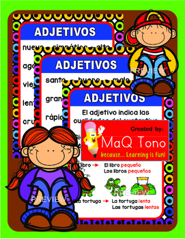 SPANISH ADJECTIVES ...ADJETIVOS