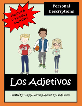 "SPANISH ""Personal Adjectives"" ACTIVITIES"