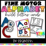 SPANISH ALPHABET BUILD LETTERS CARDS