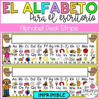 SPANISH ALPHABET DESK STRIPS/ TARJETAS CON EL ALFABETO PARA EL ESCRITORIO
