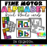 SPANISH ALPHABET LETTER BRICK BLOCK CARDS
