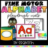 SPANISH ALPHABET LETTER PLAYDOUGH MATS