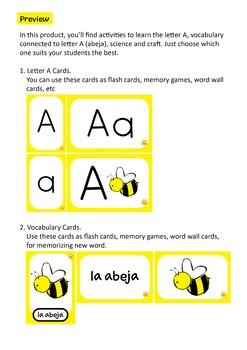 SPANISH ALPHABET: Letra A - Abeja