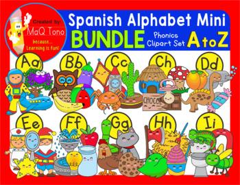 SPANISH ALPHABET MINI BUNDLE cliparts