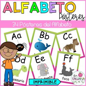 SPANISH ALPHABET POSTERS/ AFICHES DEL ALFABETO Y DE LAS VOCALES