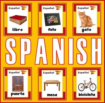 SPANISH AND ENGLISH FLASHCARDS LANGUAGE TEACHING RESOURCES