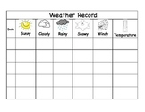 SPANISH AND ENGLISH WEATHER RECORD FOR THE DUAL LANGUAGE CLASSROOM