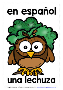 SPANISH FOR CHILDREN - 20 ANIMALS POSTERS (1)