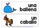 SPANISH ANIMALS (1) - CLASSROOM DECOR - WORD WALL DISPLAY CARDS