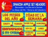 SPANISH APPLE SET HEADERS
